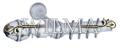 Элегант 1-х рядный Пластик с метал. трубой с крючками 180 (закрыт кронштейн) – фото 1