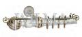 Стиль 1-х рядный Пластик с метал. трубой с крючками 140 (закрыт кронштейн) – фото 1