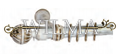 Стиль 2-х рядный Пластик с метал. трубой с крючками 240 (закрыт кронштейн) – фото 1