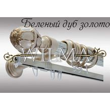 Элегант 2-х рядный Пластик с метал. трубой с крючками 180(закрыт кронштейн) – фото 2