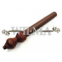 Карниз 1-х рядный деревянный с метал. трубой с зажимом 120см – фото 3