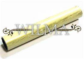 Труба гладкая Д16 Белое Золото 200 – фото 1